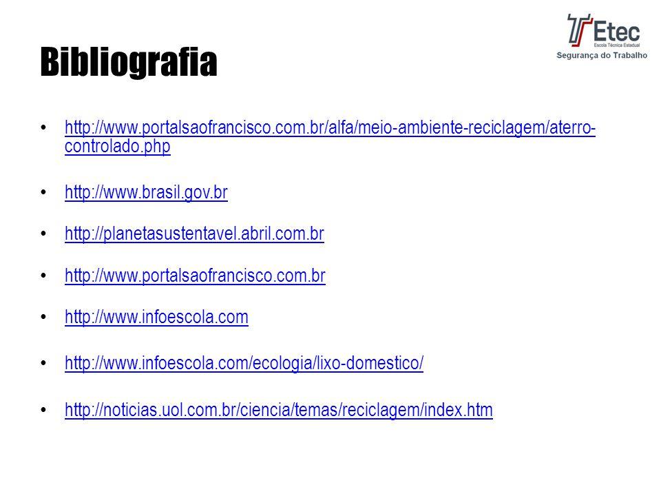 Bibliografia http://www.portalsaofrancisco.com.br/alfa/meio-ambiente-reciclagem/aterro-controlado.php.