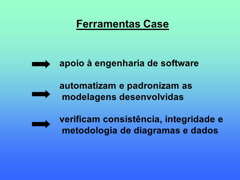 Ferramentas Case apoio à engenharia de software