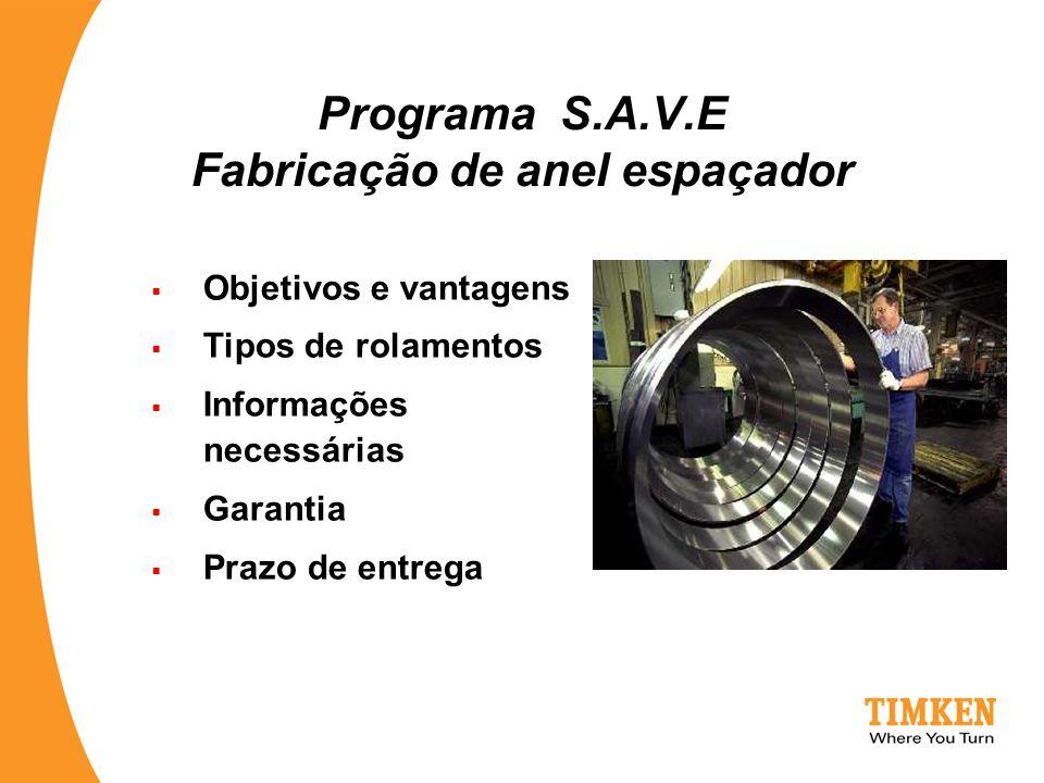 Programa S.A.V.E Fabricação de anel espaçador