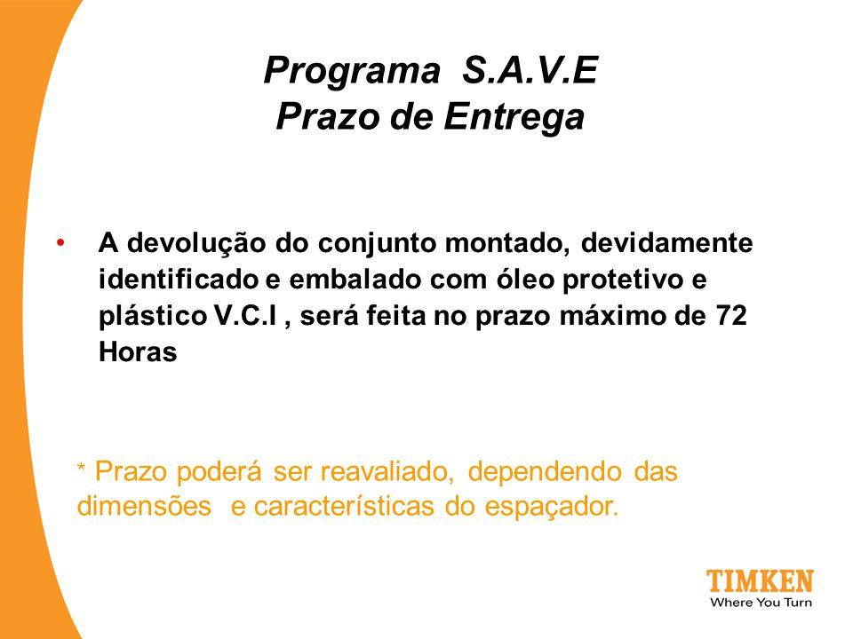Programa S.A.V.E Prazo de Entrega
