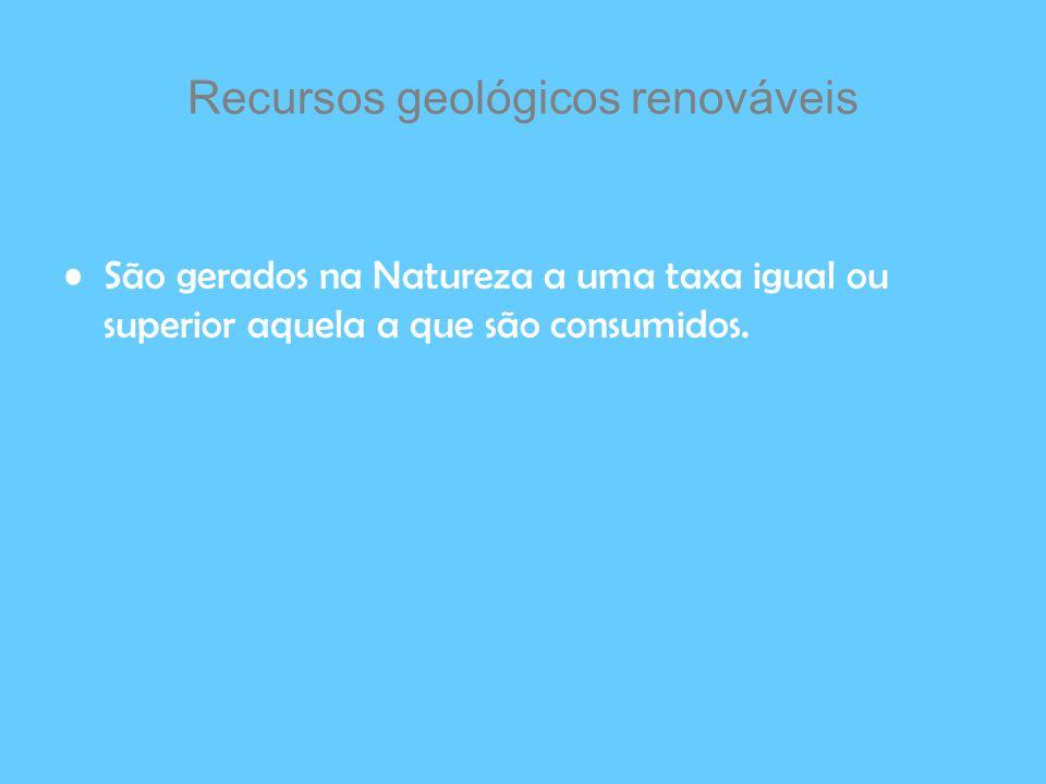 Recursos geológicos renováveis