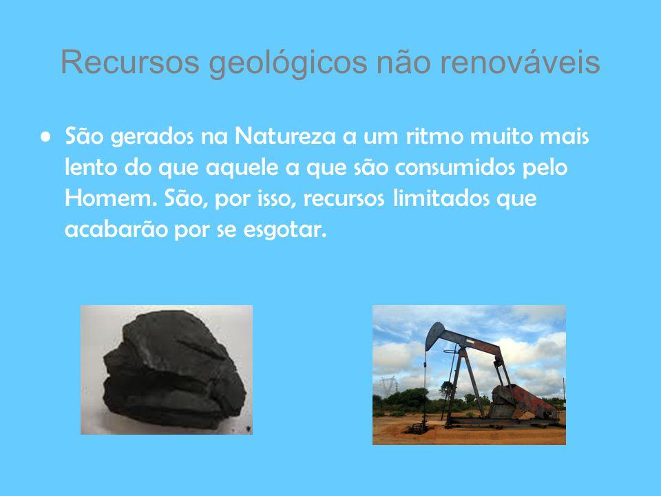 Recursos geológicos não renováveis
