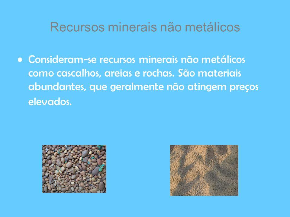 Recursos minerais não metálicos