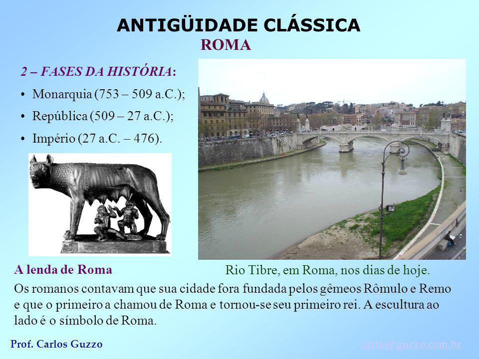 Rio Tibre, em Roma, nos dias de hoje.