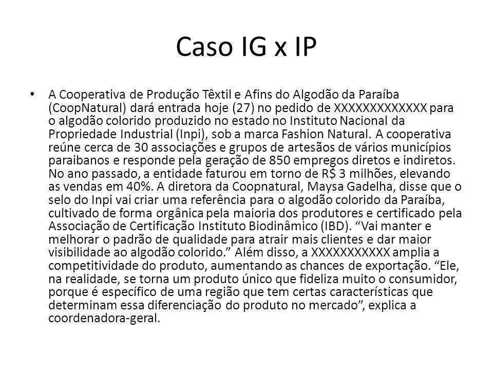 Caso IG x IP