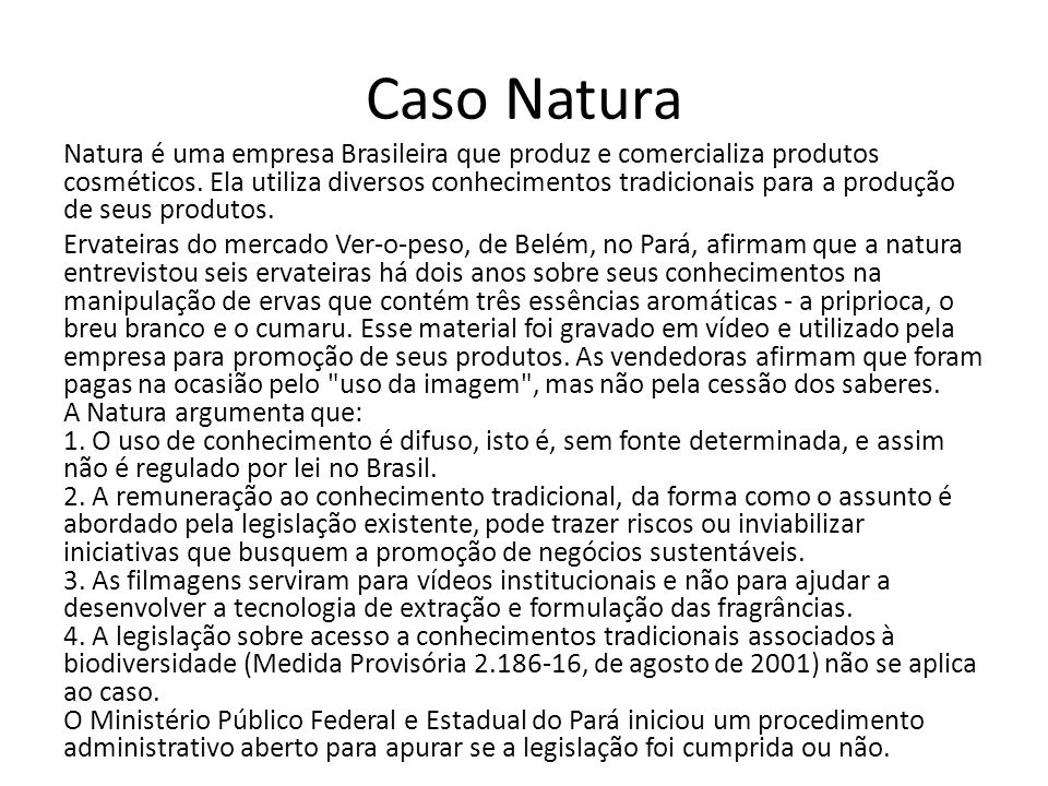 Caso Natura