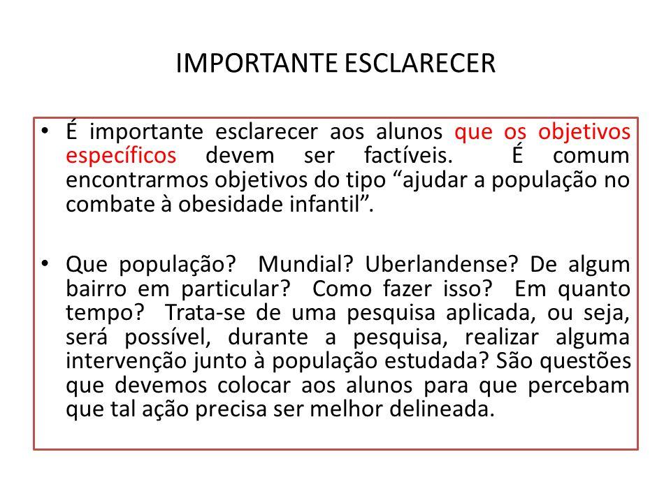 IMPORTANTE ESCLARECER