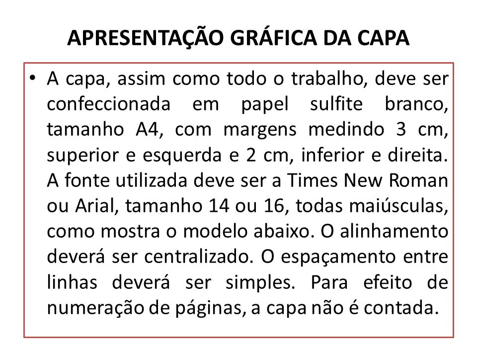 APRESENTAÇÃO GRÁFICA DA CAPA