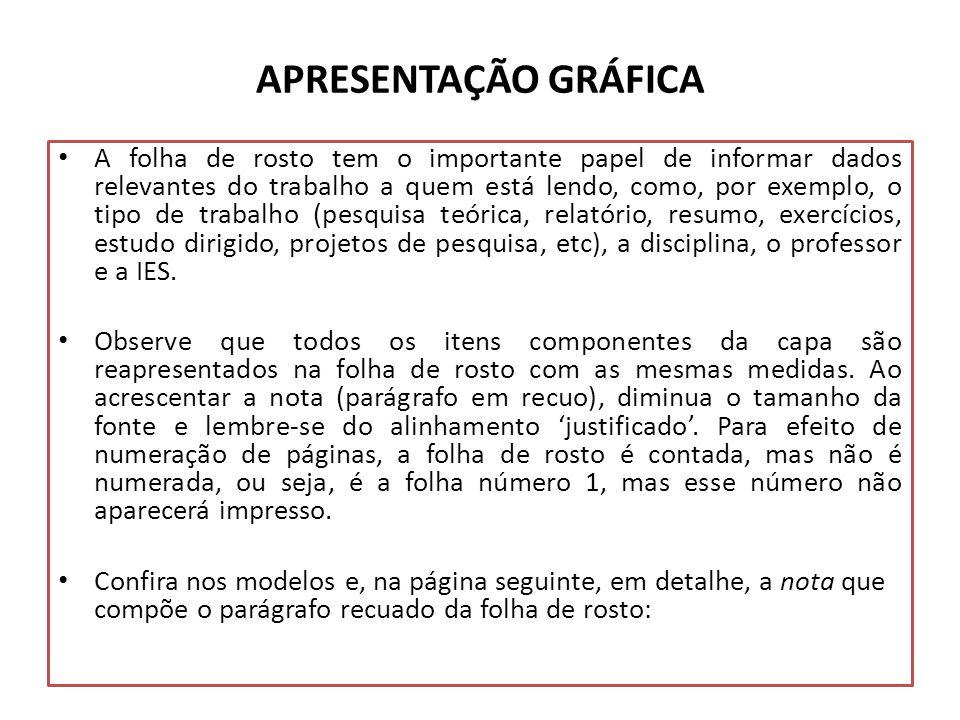APRESENTAÇÃO GRÁFICA
