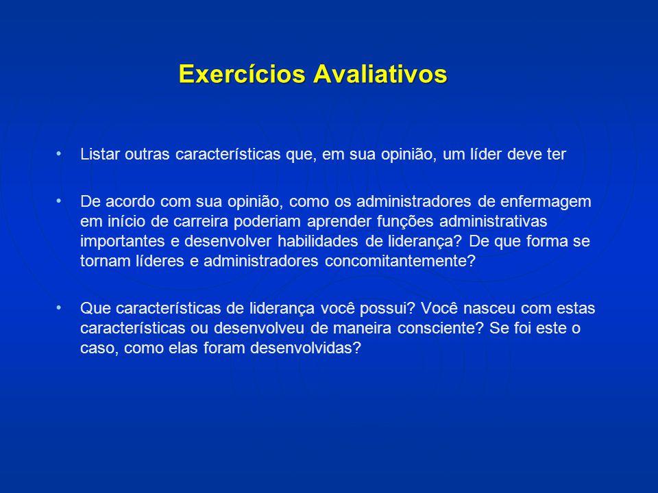 Exercícios Avaliativos