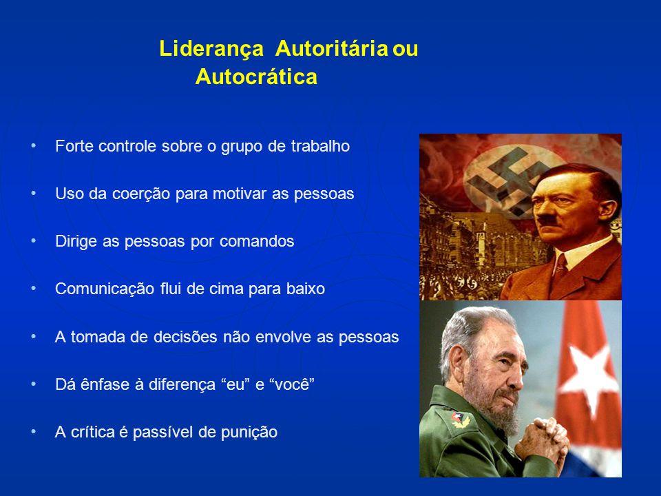 Liderança Autoritária ou Autocrática