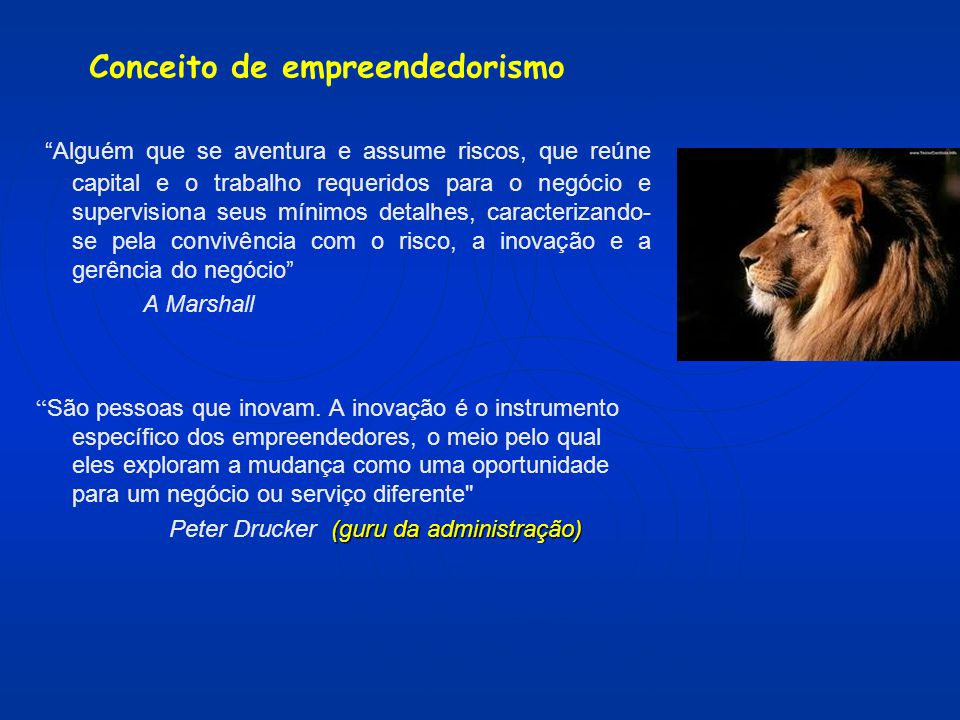 Conceito de empreendedorismo