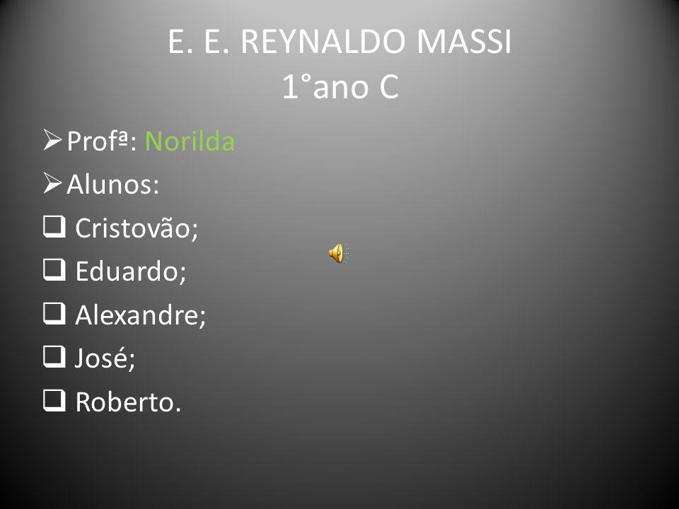 E. E. REYNALDO MASSI 1°ano C