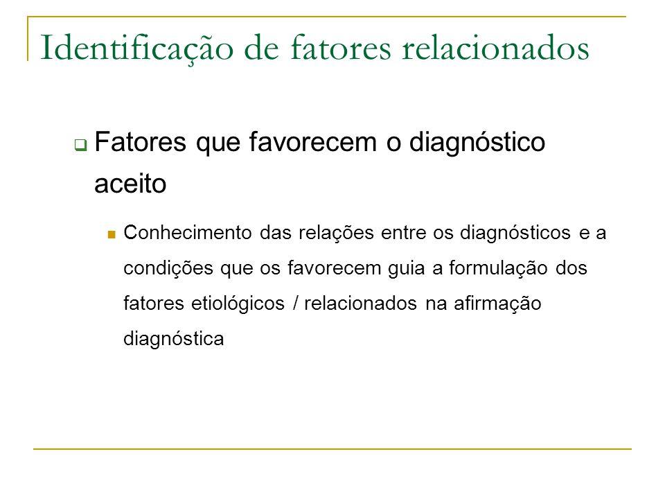 Identificação de fatores relacionados