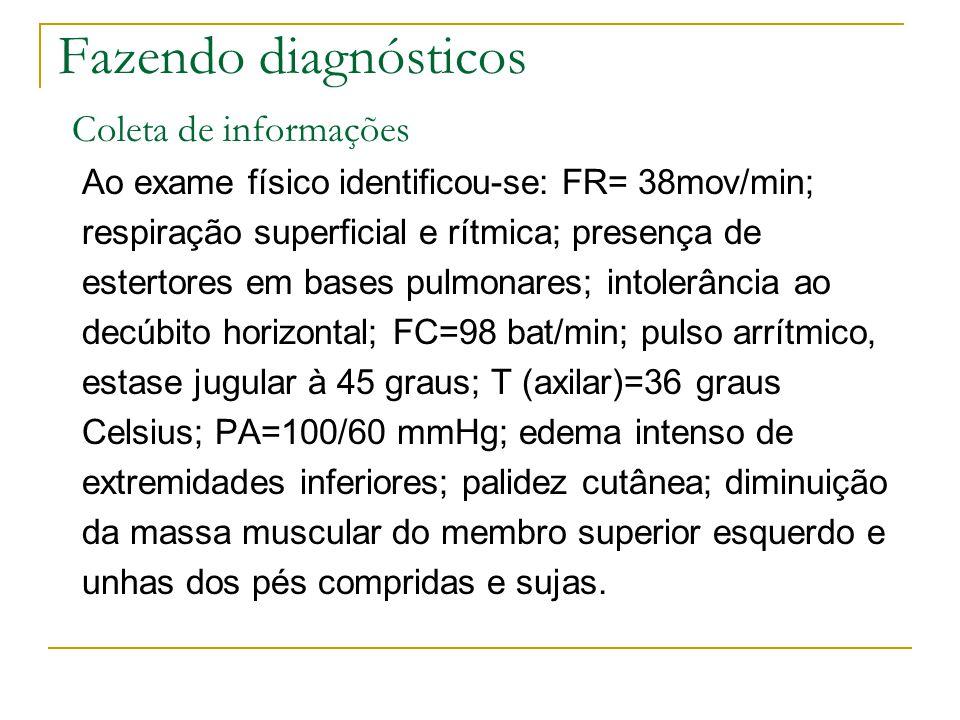 Fazendo diagnósticos Coleta de informações