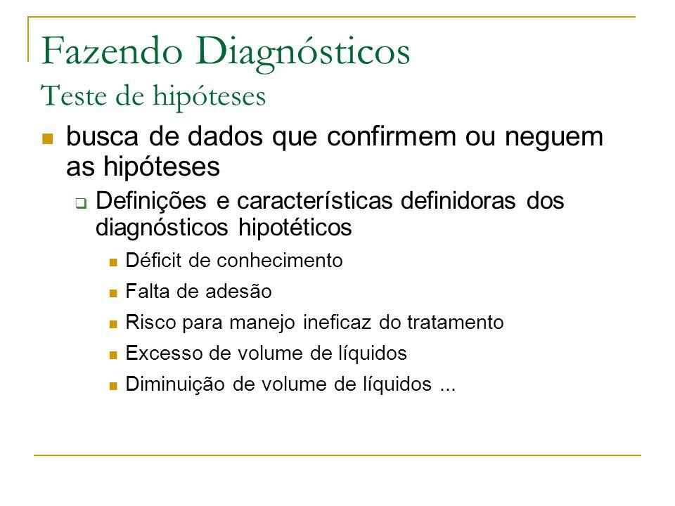 Fazendo Diagnósticos Teste de hipóteses
