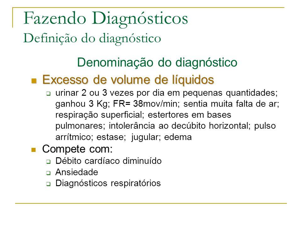 Denominação do diagnóstico
