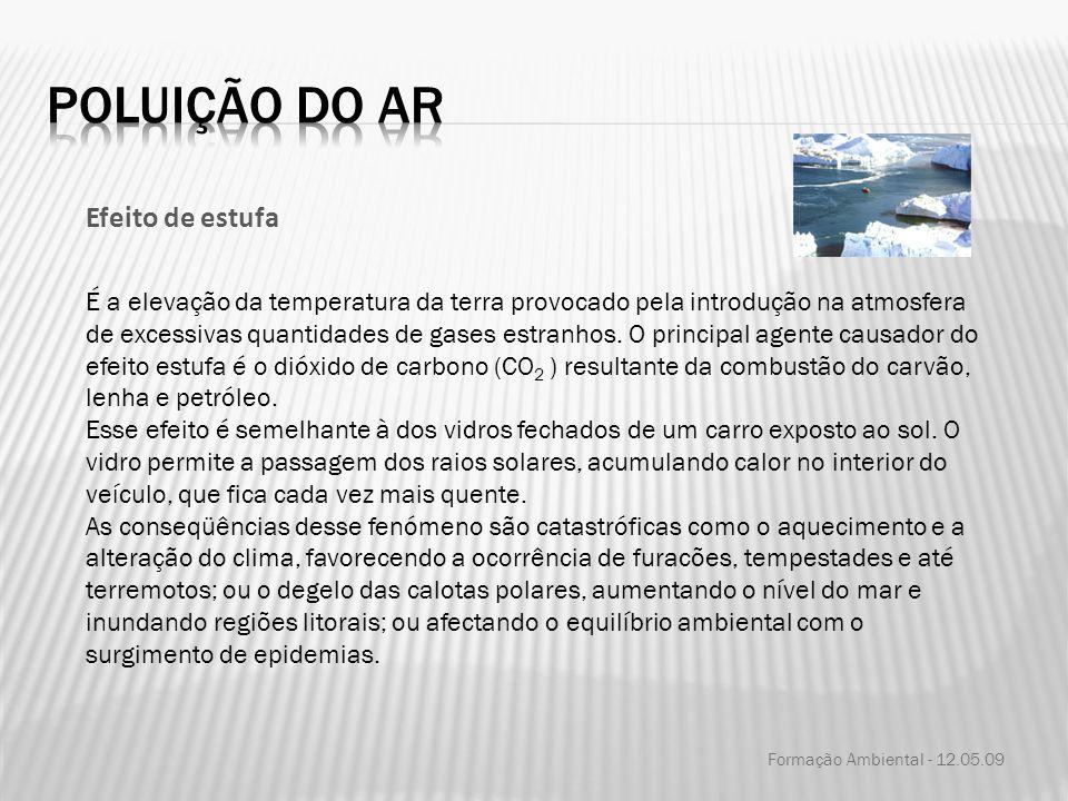 Poluição do ar Efeito de estufa