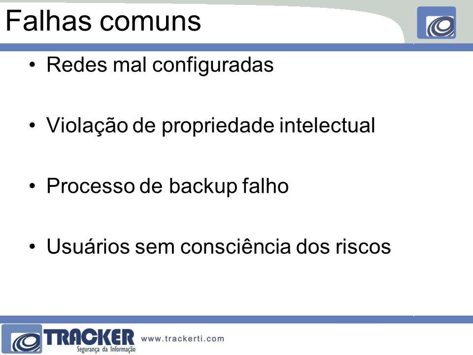 Falhas comuns Redes mal configuradas