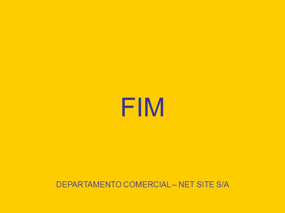 DEPARTAMENTO COMERCIAL – NET SITE S/A