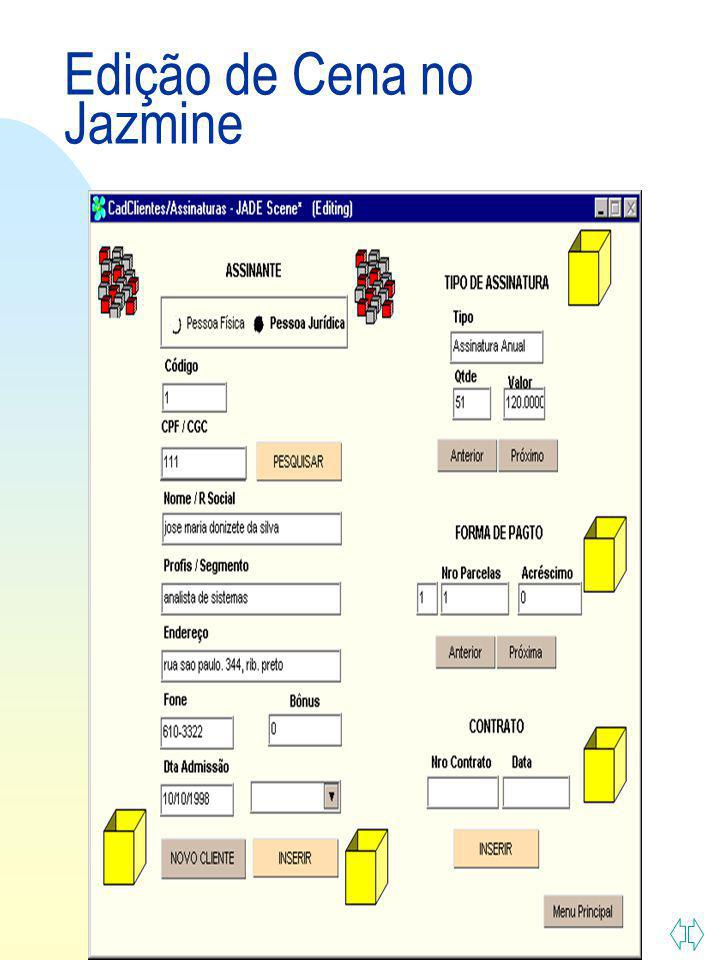 Edição de Cena no Jazmine