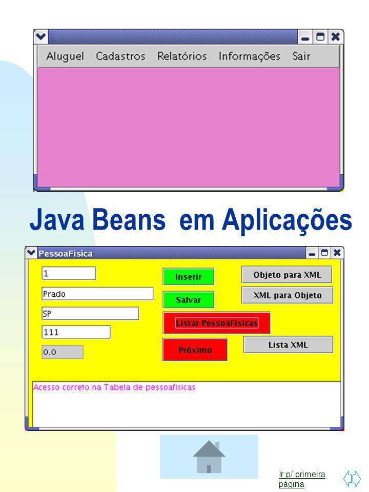 Java Beans em Aplicações