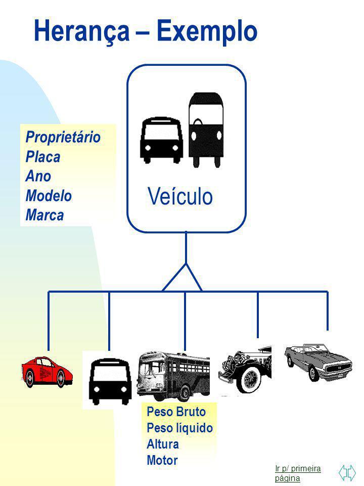 Herança – Exemplo Veículo Proprietário Placa Ano Modelo Marca