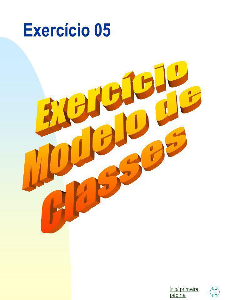 Exercício 05 Exercício Modelo de Classes