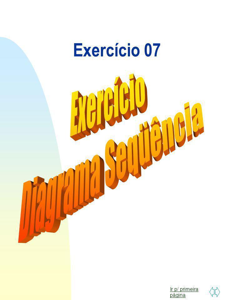 Exercício 07 Exercício Diagrama Seqüência