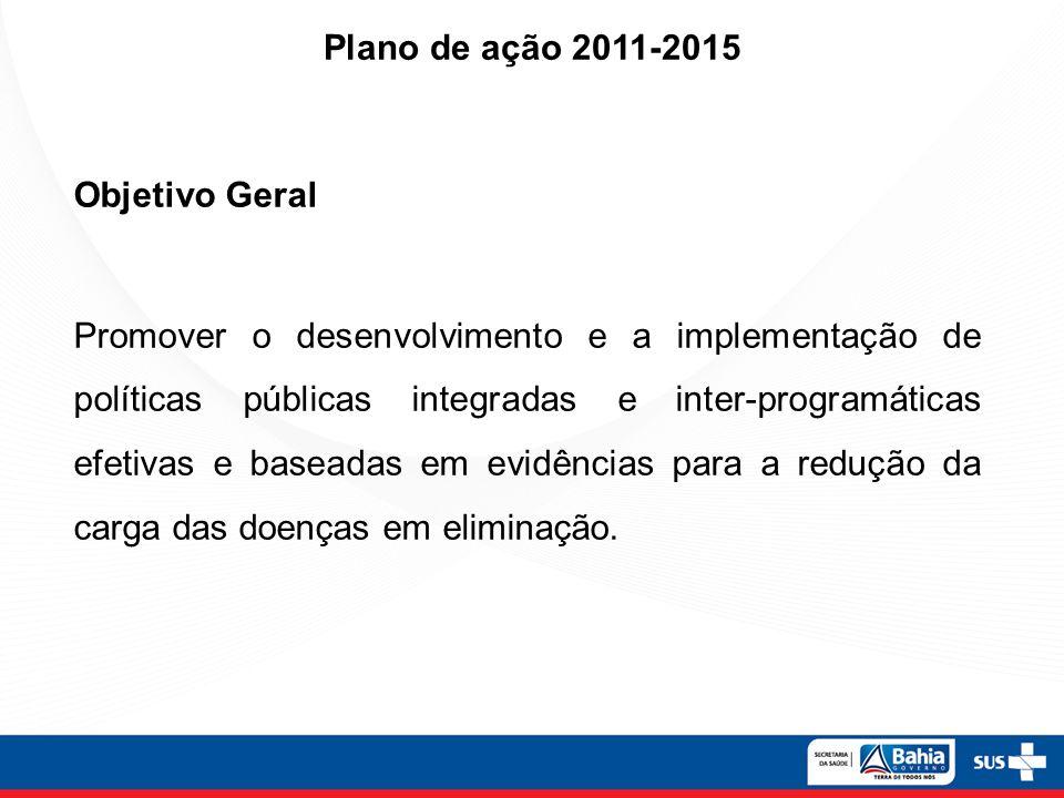Plano de ação 2011-2015 Objetivo Geral.