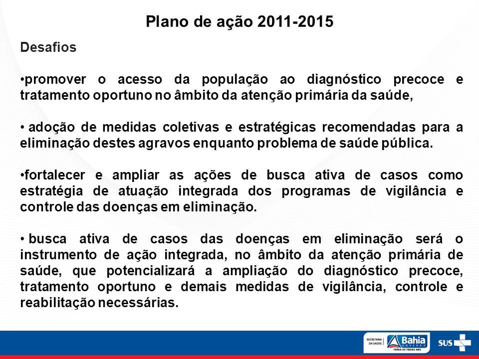 Plano de ação 2011-2015 Desafios