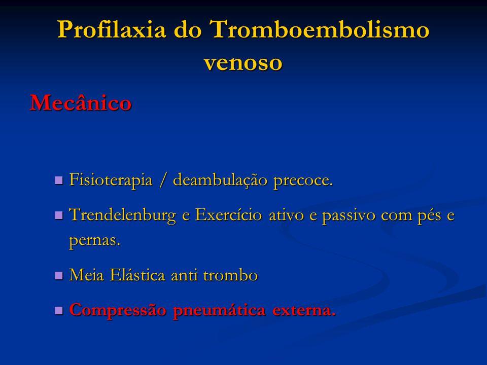 Profilaxia do Tromboembolismo venoso
