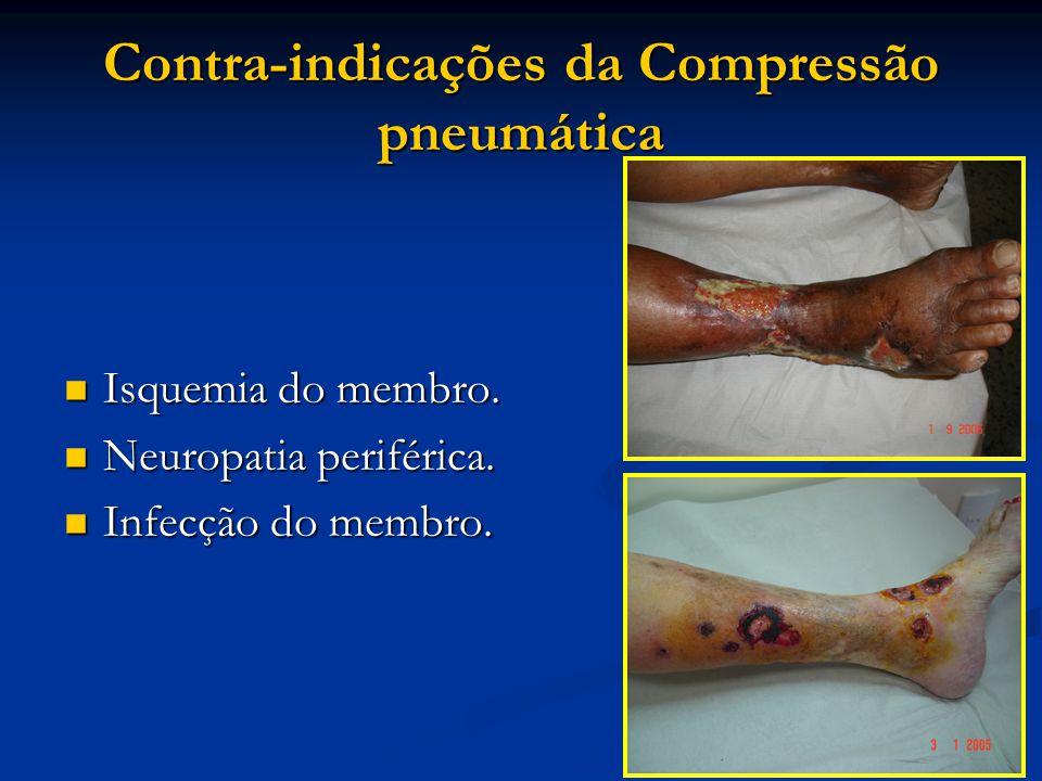Contra-indicações da Compressão pneumática