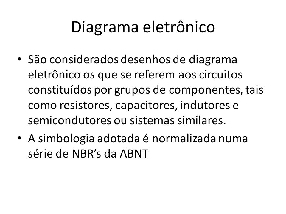 Diagrama eletrônico