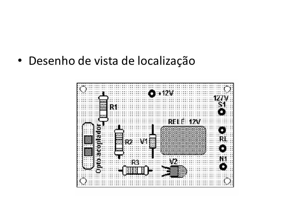 Desenho de vista de localização