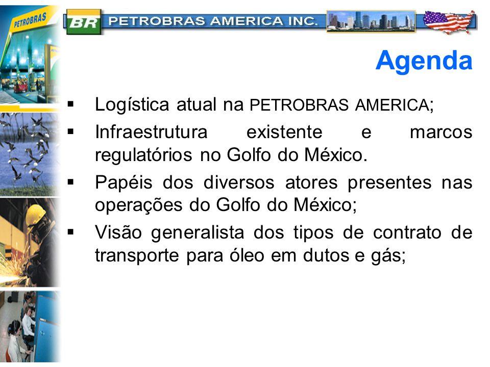 Agenda Logística atual na PETROBRAS AMERICA;
