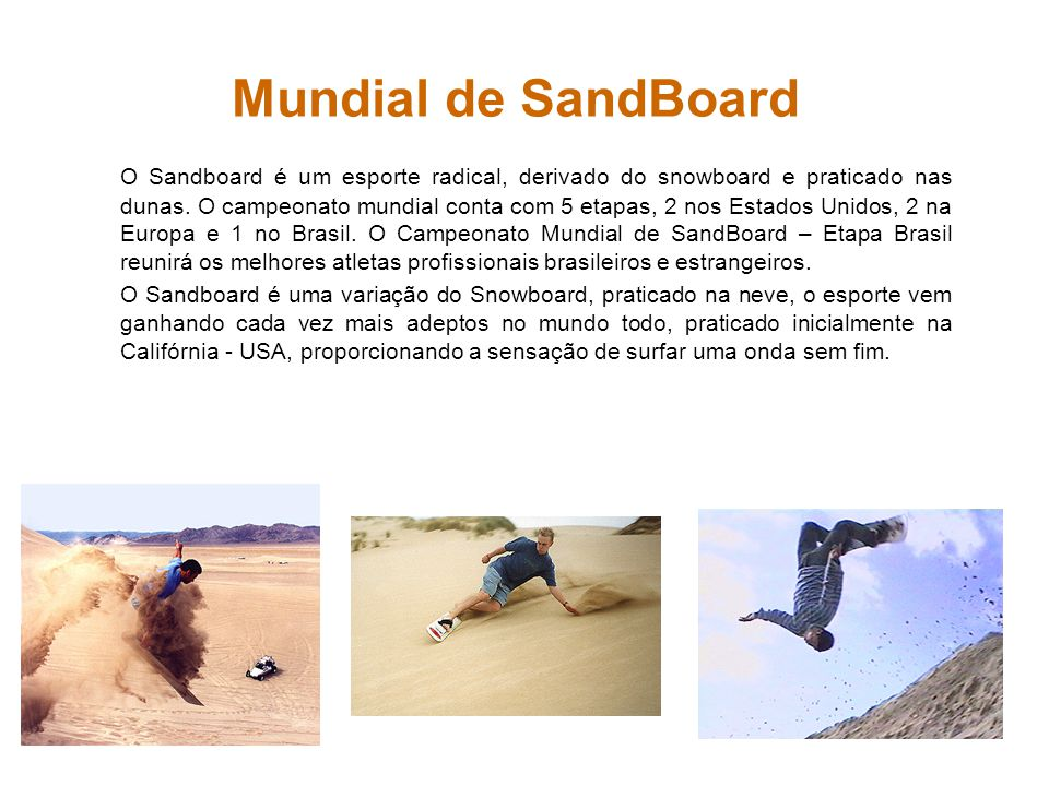 Mundial de SandBoard