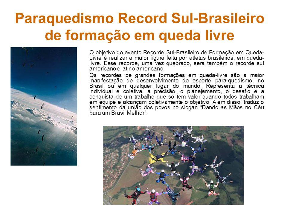 Paraquedismo Record Sul-Brasileiro de formação em queda livre