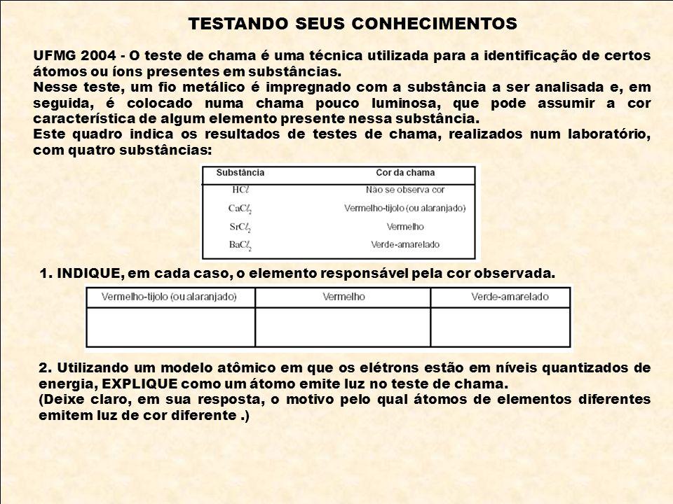 TESTANDO SEUS CONHECIMENTOS