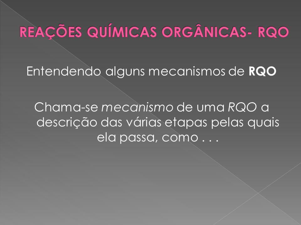 REAÇÕES QUÍMICAS ORGÂNICAS- RQO