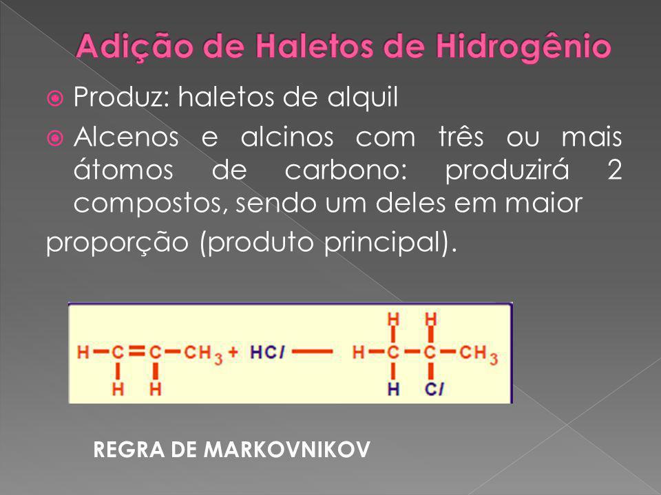 Adição de Haletos de Hidrogênio
