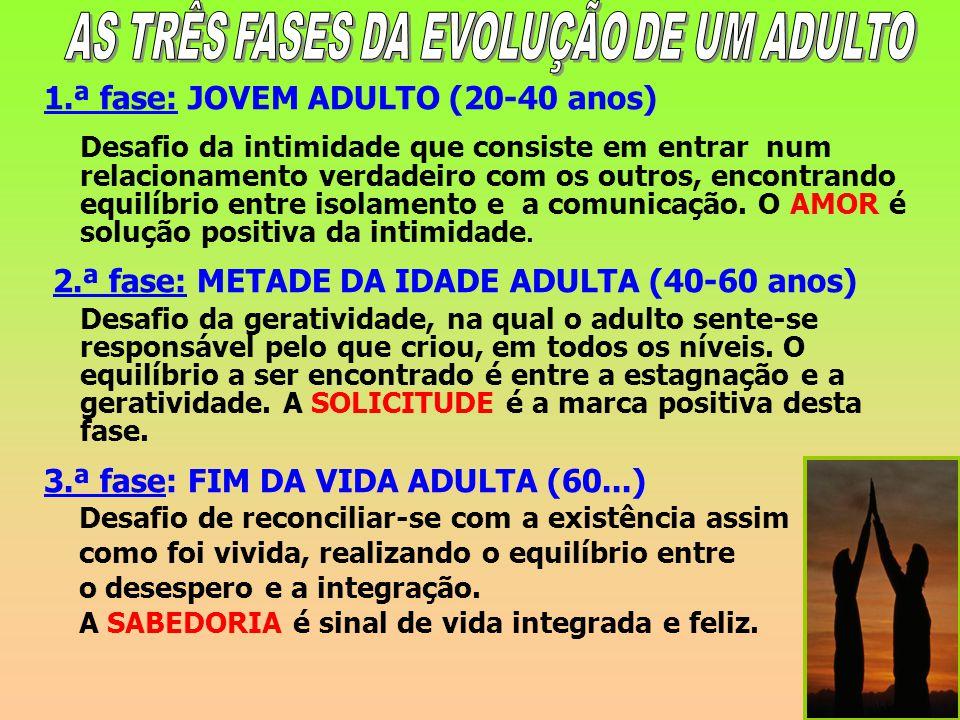 AS TRÊS FASES DA EVOLUÇÃO DE UM ADULTO