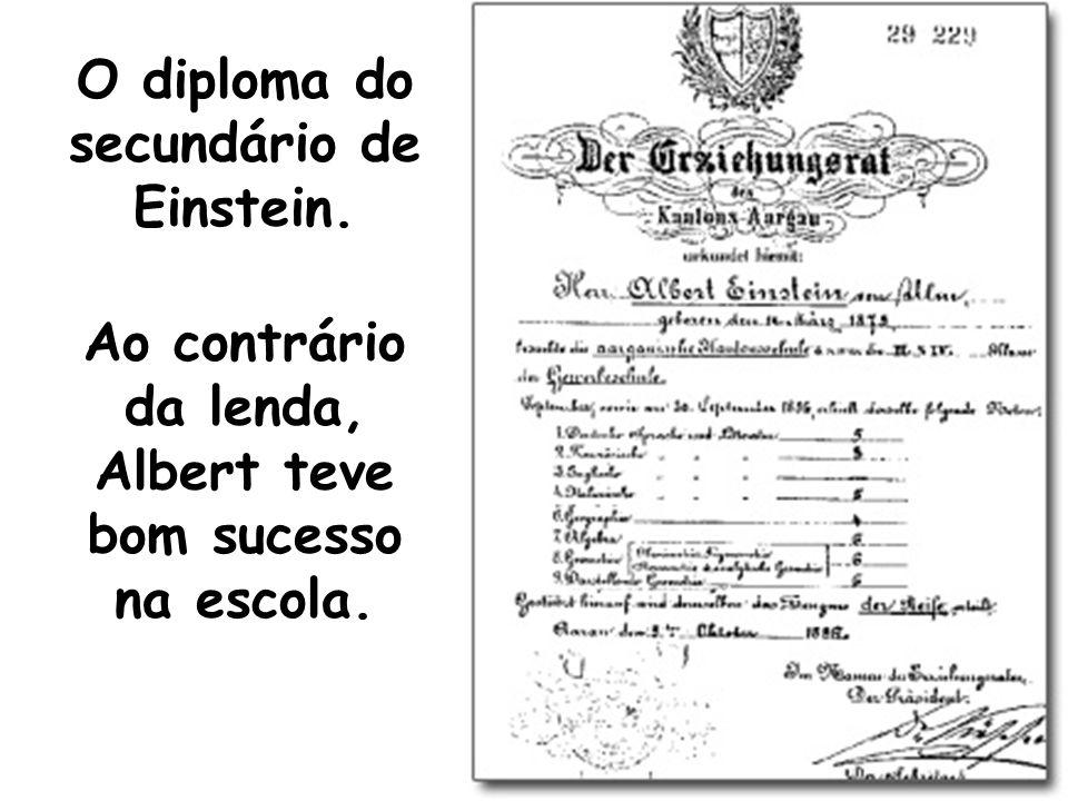 O diploma do secundário de Einstein