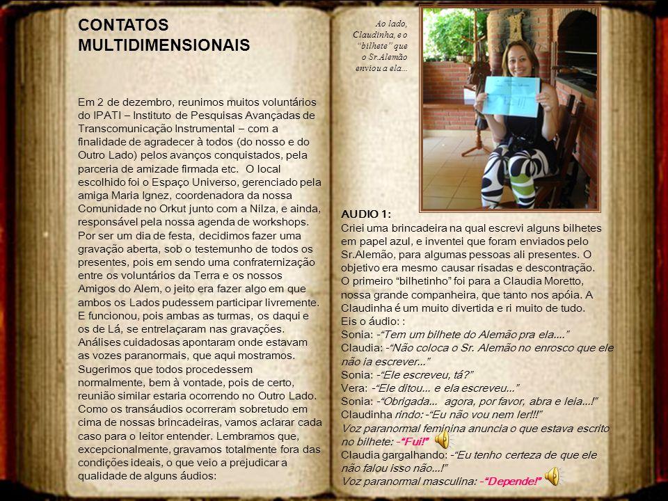 CONTATOS MULTIDIMENSIONAIS
