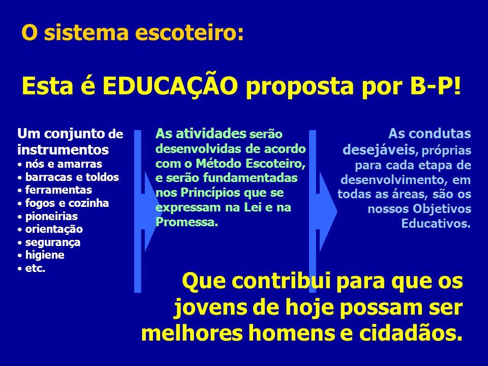 Esta é EDUCAÇÃO proposta por B-P!
