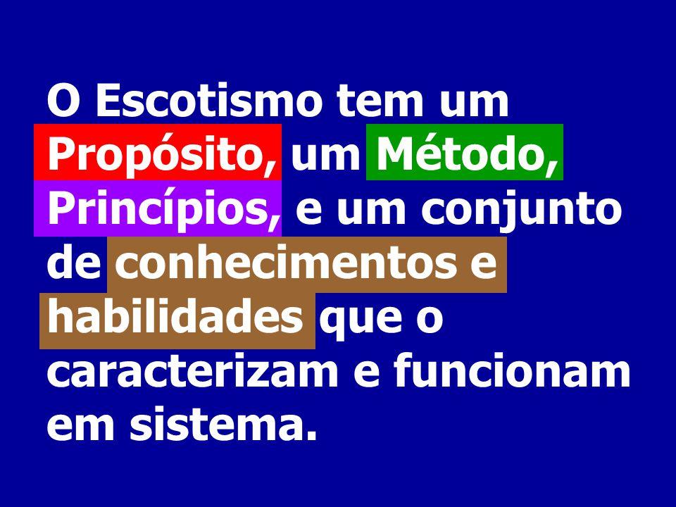 O Escotismo tem um Propósito, um Método, Princípios, e um conjunto de conhecimentos e habilidades que o caracterizam e funcionam em sistema.