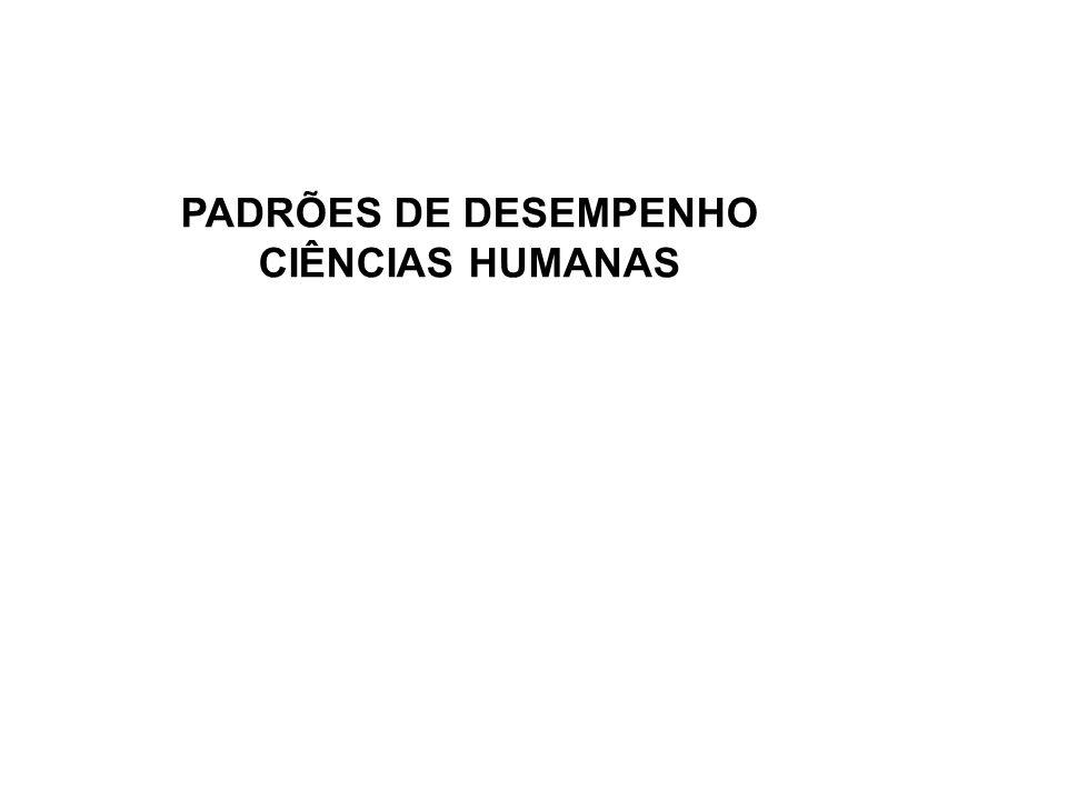 PADRÕES DE DESEMPENHO CIÊNCIAS HUMANAS