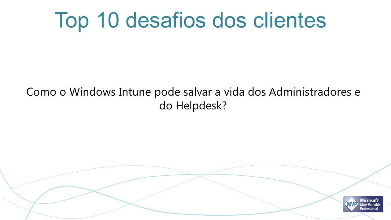 Top 10 desafios dos clientes