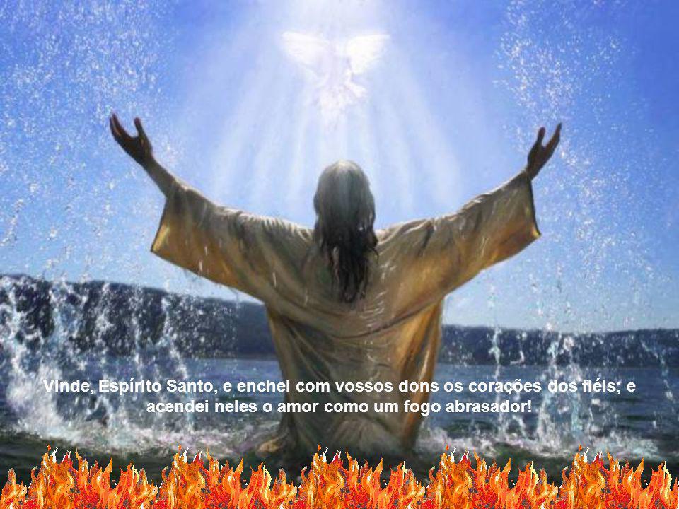 Vinde, Espírito Santo, e enchei com vossos dons os corações dos fiéis; e acendei neles o amor como um fogo abrasador!