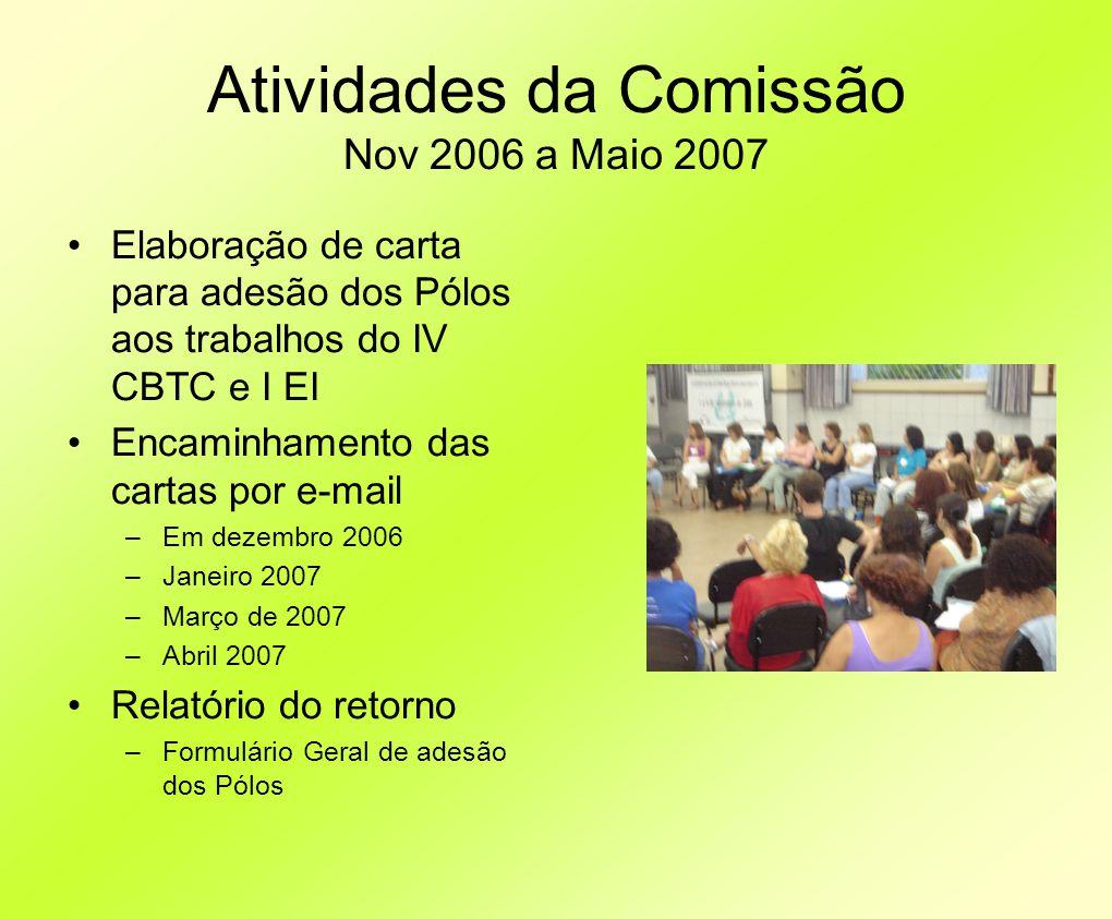 Atividades da Comissão Nov 2006 a Maio 2007
